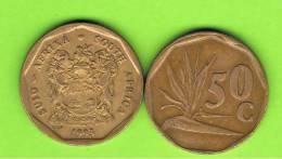 SUD AFRICA -  50 Cents  1993  KM137  -  Planta - Sudáfrica