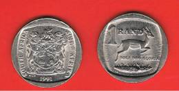 SUD AFRICA -  1 Rand 1991  KM138  - Gacela /  Springbok  - Animal Coin - Sudáfrica