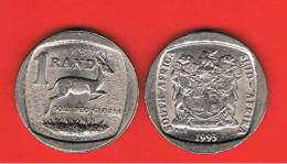 SUD AFRICA -  1 Rand 1993  KM138  - Gacela /  Springbok  - Animal Coin - South Africa
