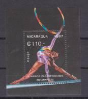 Nicaragua Minisheet: 1987 Gymnastic FU (B386) - Gymnastique
