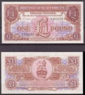 Grossbritannien - Armed Forces , 1 Pound , 1956 , 3 RD Series , UNC - Militärausgaben