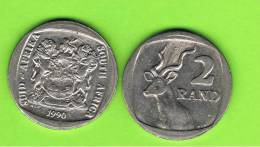 SUD AFRICA -    2 Rand  1990  KM139  -   Greater Kudu - Animal Coin - Sudáfrica