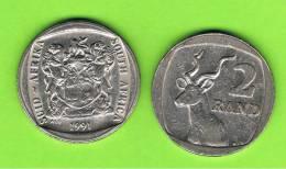 SUD AFRICA -    2 Rand  1991  KM139  -   Greater Kudu - Animal Coin - Sudáfrica