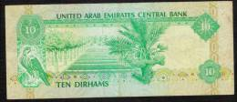 U.A.E. UNITED ARAB EMIRATES  P8   10 DIRHAMS  1982   VF  NO P.h. ! - Emirats Arabes Unis
