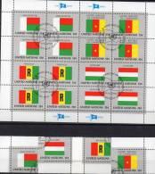 Kleinbogen Flaggen I 1980 UNO New York 360/3 Plus 16-KB O 5€ MADAGASKAR CAMEROON RWANDA HUNGARY M/s Flag Sheet Bf UN NY - UNO