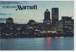 PORTLAND Oregon, HOTEL MARRIOTT And Skyline - Portland