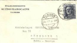 Spm003 / Tanger  24. Sept. 1947 – Geschäftsbrief Nach Schweden (Göteborg) - Spanisch-Marokko