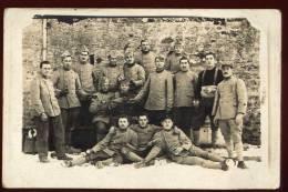 Cpa Carte Photo Du  78 Guitrancourt  Peloton Des E.C. 9ème Bat.on  6è Colonial  En 1919     FRVA6 - Guyancourt