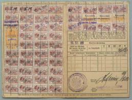 HANNOVER - HANSESTÄDTE - ELSASS / 1916 SELTENE QUITTUNGSKARTE (ref 2200) - Briefe U. Dokumente