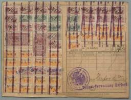 RHEINPROVINZ - HANNOVER - WESTFALEN - ELSASS / 1911 SELTENE QUITTUNGSKARTE (ref 2195) - Briefe U. Dokumente