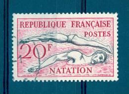 *  1953 N° 960 NATATION  OBLITÉRÉ - Varieties: 1950-59 Used