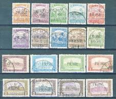 Fiume 1918-19 Bolli D'Ungheria Del 1916-17 Soprastampati N. 4 - 7, 9 - 21 USATI Alti Valori Firma WOLF Cat € 6250 - Fiume
