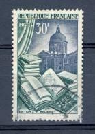 *  1954 N° 971 RELIURE MÉTIERS D'ART PLUSIEURS TACHE  ENCRE  VERT OBLITÉRÉ - Errors & Oddities