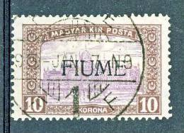 Fiume 1918-19 Bollo D'Ungheria 1916-7 Soprastampato N 21 K10 Brunolilla E Lilla USATO Firme ADiena, GOliva Cat. € 6000 - Fiume