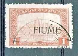 Fiume 1918-19 Francobollodel 1916-17 SS 2 N. 17 K 1 Carminio E Rosa Soprastampato USATO - Fiume