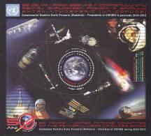Cosmos,Espace Gagarin & Prunariu 2011  Bloc  MNH Romania.Extra Price Face Value! - Blocks & Kleinbögen