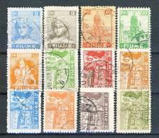 Fiume 1919 SS 5 Allegorie E Vedute N. 32-33, 35, 37, 41-48 USATI Cat.  € 200 - Fiume