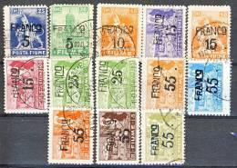 Fiume 1919 SS 13 N. 75 - 87 Cifre In Franchi Soprastampate USATI Cat. € 175 - Fiume