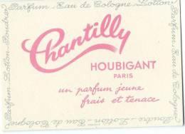 Carte parfum�e/ Parfum/Eau de Cologne / Chantilly/Houbigant/Paris /1955     PARF53