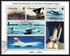 Gibraltar 2003 Centenary Of Powered Flight MS, Fine Used (ex FDC) (B) - Gibraltar