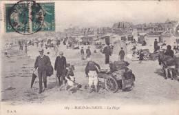 CPA 59 @ MALO LES BAINS @ Sur La Plage En 1917  @ Carte Animée Attelage ANES - Malo Les Bains