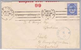 South Africa 1916-05-25 Pretoria Zensurbrief Nach Hasle Bei Burgdorf CH - Afrique Du Sud (1961-...)