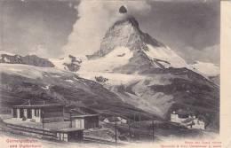 Railroad Tracks & Station, Gornergratbahn And Matterhorn, Switzerland, PU-1906 - Autres