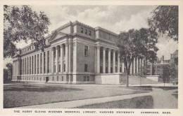 Massachusetts Cambridge Harvard University The Harry Elkins Widener Memorial Library Albertype - Verenigde Staten