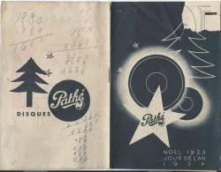 Catalogue Disques/Pathé/Disques à Aiguille/1933-1934      CAT19 - Objets Dérivés