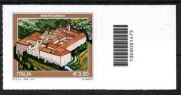 2012 – TURISTICA MONTECASSINO Con Codice A Barre Barcode 1475 Nuovo** Perfetto - 6. 1946-.. Repubblica