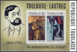 ##Togo 1976. Toulouse-Lautrec. Peintures. Paintings. Michel Block 106. MNH(**) - Togo (1960-...)