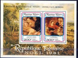 ##Togo 1981. Christmas. Rubens. Peintures. Paintings. Michel Block 184. MNH(**) - Togo (1960-...)