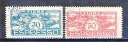 Fiume 1920 Espressi SS 33 N. E1 - E2 USATI - Fiume