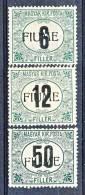 Fiume 1918-19 Tasse D'Ungheria Soprastampati N. 1-3 MH E MNH Timbrini Garanzia (firmati A. Diena) Cat.€ 2100 - Fiume