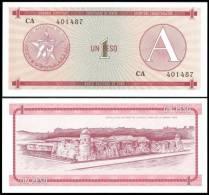 Cuba 1 PESO Letter A ND 1985 P FX1 UNC - Cuba