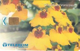 MALAYSIA(chip) - Oncidium Varicosum, Telecom Malaysia Telecard RM50, Used - Malaysia