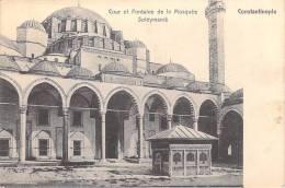 Turquie-CONSTANTINOPLE-Cour Et Fontaine De La Mosquée Suleymanié (Religion)(Editions: Au Bon Marché Péra 194)*PRIX FIXE - Turquie