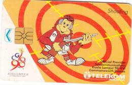 MALAYSIA - Shooting, Kuala Lumpur 98/XVI Commonwelth Games, Used - Deportes