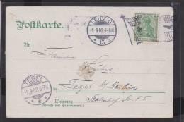 A17  /    Deutsches Reich  SST /  Leipzig Flaggenstempel 1903 - Alemania
