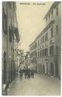 CARTOLINA - FROSINONE VIA GARIBALDI  - VIAGGIATA NEL 1912  - ANIMATA - Frosinone