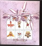 MICRONESIA    367  MINT NEVER HINGED MINI SHEETS OF FLOWERS - ORCHIDS   #  M-486-3  ( - Orchidee