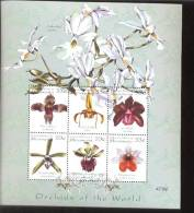 MICRONESIA    366  MINT NEVER HINGED MINI SHEETS OF FLOWERS - ORCHIDS - Orchidee