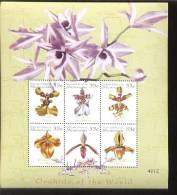 MICRONESIA    365  MINT NEVER HINGED MINI SHEETS OF FLOWERS - ORCHIDS   #  M-486-1  ( - Orchidee