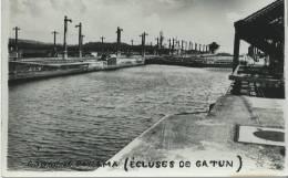 34Ch  Canal De Panama Ecluses De Gatun Carte Photo - Panama