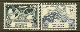 SOUTHERN RHODESIA 1949 Mint Never Hinged Stamps U.P.U. 70-71 - U.P.U.