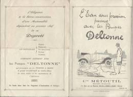 Mécanique / Pompe à Eau / DELTONNE/Branchement Sur Automobile /Cie METOUTIL/ Maubeuge /vers 1929  VP577 - Other Collections