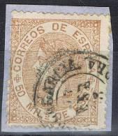 Sello 50 Mils Isabel II 1867, Fechador VILLAGARCIA (Pontevedra), Num 96 º - 1850-68 Reino: Isabel II