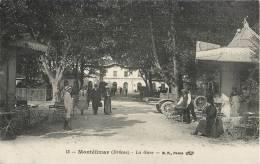 MONTELIMAR LA GARE ANIMEE KIOSQUE CAFE CAMION 26 DROME - Montelimar