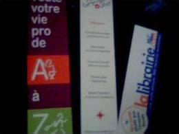 Lot De 3 Marque Pages Divers La Librairie.com,la Grande Ourse,jobvious - Autres Collections