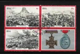SOUTH AFRICA 1979 CTO Stamp(s) Zulu War 556-558 #3547 (block) - South Africa (1961-...)